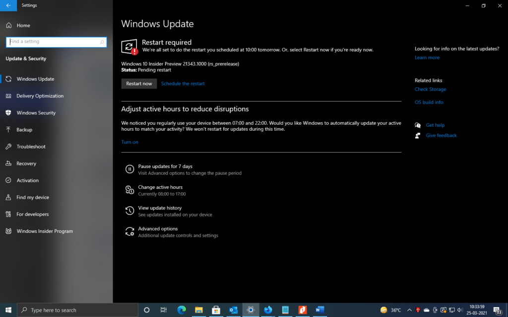 Windows 10 Insider Preview 21343.1000 rs prerelease 210320 1757